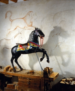 L'atelier d'Alfred Chanvin. Collection Humbert. Photo © Musée des Arts populaires de LaduzCheval d'Alfred Chanvin