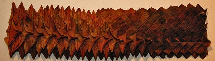 Jean-Claude Correia - Papiers pliés - Exposition musée des Arts populaires de Laduz