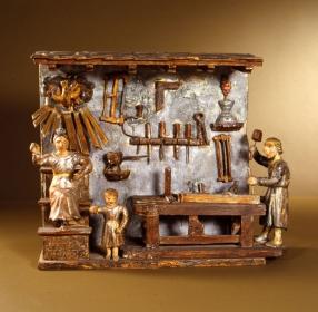 La sainte famille dans l'atelier de Joseph. Maquette