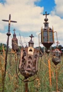 Lanterne de procession. Mémoire des campagnes. Collection Humbert. Photo © archives musée des arts populaires de Laduz