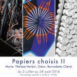 "Odon, Bernadette Chéné, Marie-Thérèse Herbin, exposition ""Papiers choisis II"""
