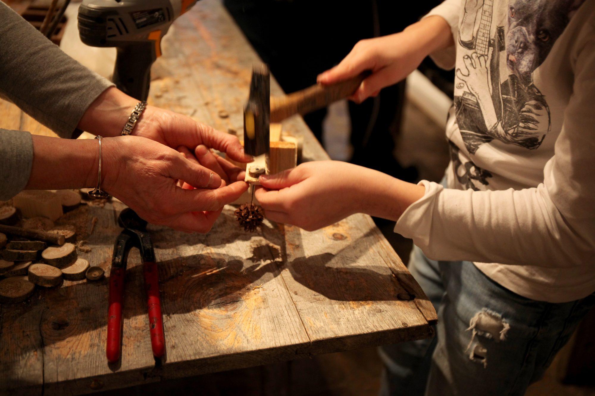Atelier bois. Janvier 2018. PHoto © Anne Nguyen Dao / Musée de Laduz