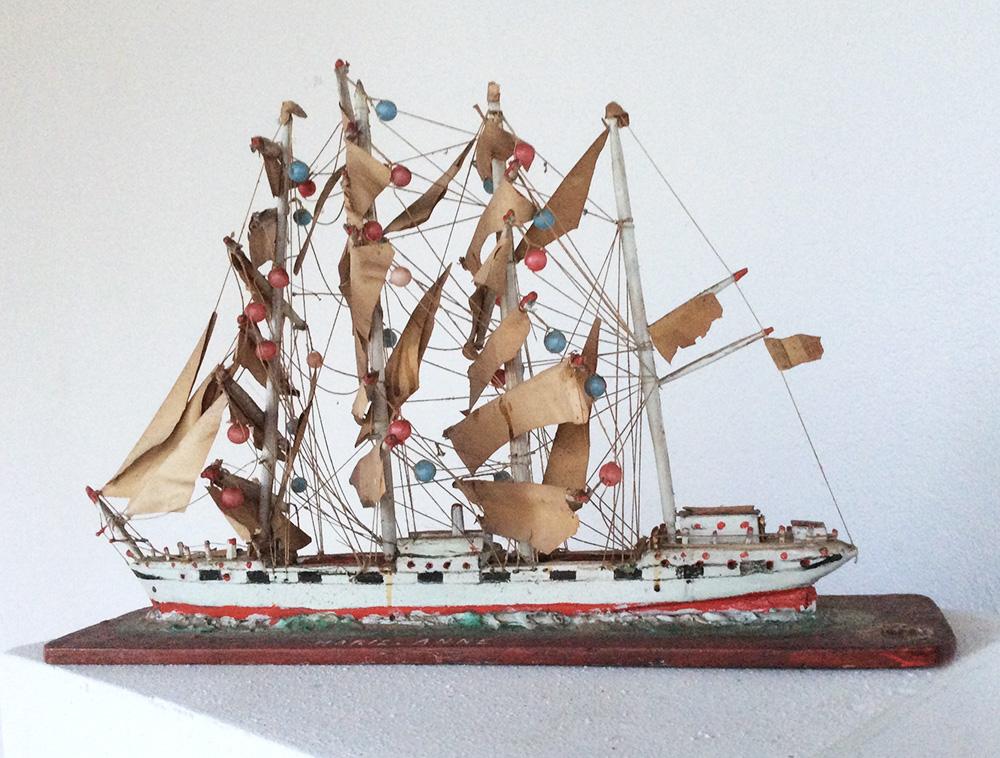 Maquette de navire; Collection Raymond Humbert. Photo Anne Nguyen Dao / Archives du Musée des Arts populaires