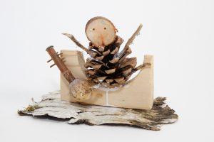 Personnage. Atelier bois du musée des Arts populaires de Laduz